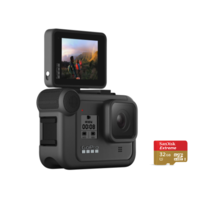 GoPro HERO8 Black Action Camera With 32G SD Card + Display Mod