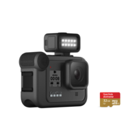 GoPro HERO8 Black Action Camera With 32G SD Card + Light Mod