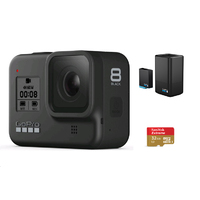 GoPro Hero8 Black + 32G SD Card  + Dual Battery Charger Withe Battery