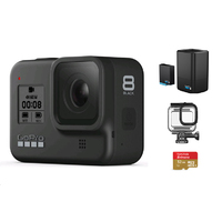 GoPro HERO8 + 32G SD Card + Protective Housing +Dual Battery Charger With Battery