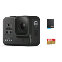 GoPro HERO8 Black + 32G SD Card + Rechargeable Battery